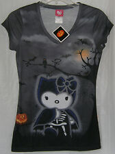 Hello Kitty HALLOWEEN Tee T-Shirt Ladies FREE USA SHIPPING SMALL NWT