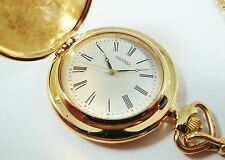 Seiko Gold Tone Base Metal Pocket Watch V701-0N18 Sample Watch NON-WORKING