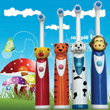 Electric Toothbrush Waterproof Ultrasonic Cartoon Child Kids Tooth Brush+2 Heads