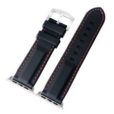 38mm 42mm Mens Sport Waterproof For iWatch Strap Apple Watch Black Silicone Band