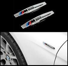 für BMW M EMBLEM Poliert Schriftzug Emblem Logo Dekorativen Aufkleber 2ST