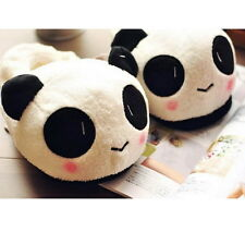 Cute Women Ladies Panda Winter Warm Soft Plush Antiskid Indoor Home Slippers OV