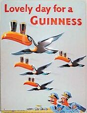Guinness Flying Toucans Embossed Steel Sign (large) (hi 4030)