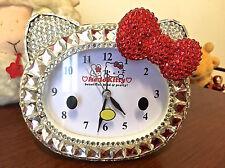 Bling Bling  Hello Kitty Crystal Diamond Alarm Clock! Best Gift!