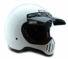 SIMPSON M50 MOTORCYCLE HELMET DOT APPROVED GLOSS WHITE S SMALL 56cm 7