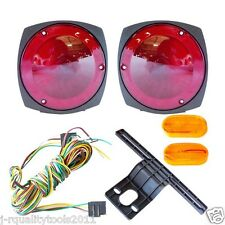 TRAILER LIGHT KIT 12V 4 LIGHTS & WIRE KIT! TAIL LIGHTS W/ INSTALL KIT
