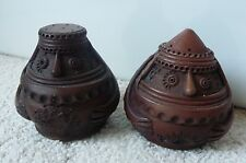 "Salt and Pepper Shakers from Armenia or Karabagh (approximately 3.25"" tall)"