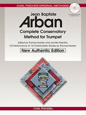 ARBAN COMPLETE CONSERVATORY METHOD FOR TRUMPET METHOD BOOK/CD O21X NEW