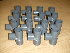 """1 NEW LASCO Sch 80 3/4"""" x 3/4"""" x 1/2"""" PVC Reducing Tee Pipe Fitting Unthreaded"""