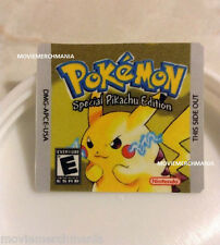 Pokemon Yellow Version Cartridge Replacement Label Sticker for Original Gameboy