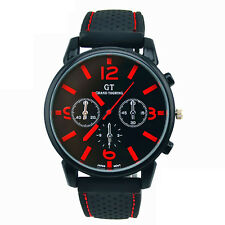 Mens Fashion Stainless Steel Sport Watch Cool Quartz Analog Boys Wrist Watches