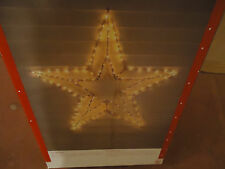 """52"""" STAR LIGHTED  WIRE FRAME  CHRISTMAS OUTDOOR DECOR YARD DISPLAY LIGHTS UP"""
