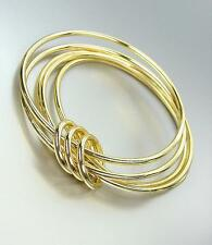 CHIC Urban Anthropologie 5 PC Gold Metal Bangle Bracelets Set