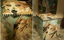 Custom Pet urn for ashes Cat Dogs cremation urn Med memorial 4 sided ceramic DOG