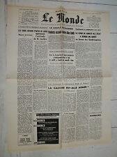 FAC-SIMILE A LA UNE JOURNAL LE MONDE 04/03 1968 OFFENSIVE DU TÊT GUERRE VIETNAM