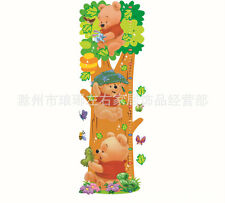 Free shipping Winnie The Pooh Growth Height Chart Wall Sticker Decal Nursery Kid