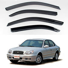New Smoke Window Vent Visors Rain Guards for Hyundai Sonata 2000 - 2004