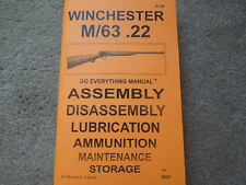 Winchester Model 63 in .22  Rifle Manual 87 pages