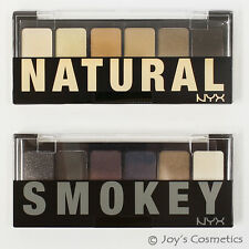 "2 NYX The Natural / Smokey Shadow Palette - "" TNS01 + TSS01 ""  *Joy's cosmetics*"
