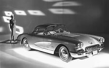 Framed Print - Vintage 1953 Corvette C1 American Classic Car (Picture Poster Art