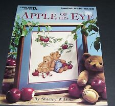 LEISURE ARTS COUNTED CROSS STITCH LEAFLET PATTERN 2319 APPLE OF HIS EYE 1992