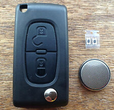 Peugeot 2 button 3008 5008 807 Expert Remote Flip Key Fob FULL Repair Kit p2bwg