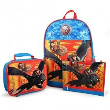 How To Train Your Dragon Conjunto Escolar Mochila Fiambrera Estuche Bag