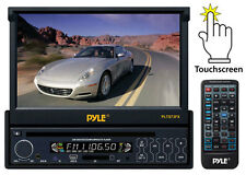 PLTS73FX 7'' InDash Motorized Touch Screen LCD Monitor DVD CD MP3 USB Player