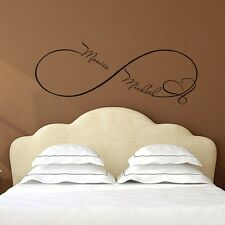 Custom Wall Decals Infinity Sign Heart Decal Family Names Sticker Bedroom FD49