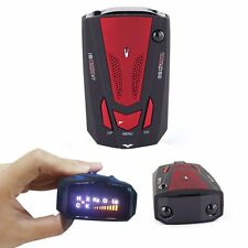 360 Degree Car Radar Detector 16 Band Voice Alert Laser V7 LED Display Red