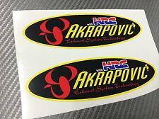 2 Adesivo Stickers AKRAPOVIC Honda HRC Old resistente al calore 14 cm