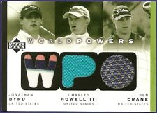 JONATHAN BYRD / CHARLES HOWELL III / BEN CRANE 03 UD WORLD POWERS USA TOUR. WORN
