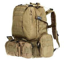 Mochila Set Tactica Militar Montaña Caza Supervivencia Every Day Carry Caqui