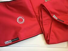 Genuine Bugaboo Cameleon Rare Coral Red Canvas Fabric Pack 2 pc Set New