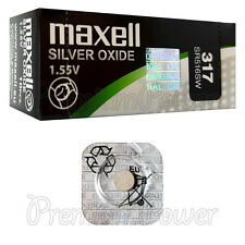 1 x Maxell 317 Silver Oxide battery 1.55V SR516SW D317 SR62 0% Mercury Watches