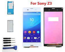 LCD Display Screen Touch Digitizer For Sony Xperia Z3 D6603 D6643 Adhesive White