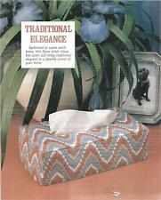 J109  TRADITIONAL ELEGANCE TISSUE BOX COVER PLASTIC CANVAS PATTERN/INSTRUCTIONS