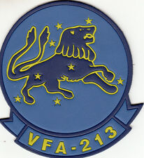 VFA-213 BLACKLIONS LEATHER COMMAND CHEST PATCH