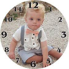 Personalizzato CUSTOM parete/da tavolo Orologio 9x9 cm qualsiasi immagine di tua scelta
