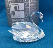 Swarovski Medium Swan 7633 NR 050 Silver Crystal Animal Figurine in Original Box