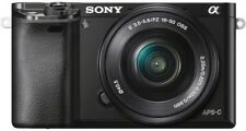 Sony A6000 24.3 Megapixels Digital Camera - Black Kit w/ SELP1650