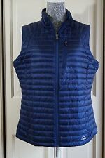 NEW L.L.BEAN WOMEN'S 850 DOWN SWEATHER VEST Size S $159 NIGHT (BLUE)