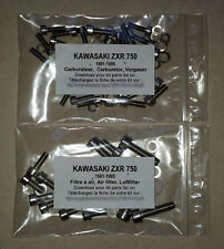 KAWASAKI ZXR 750 1991-1995 Carburetor stainless allen screw kit #1 ZX