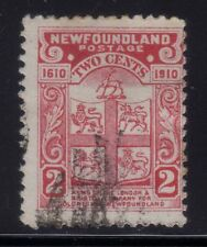[JSC]1910 Newfoundland Arms of the London Old Postage Stamp