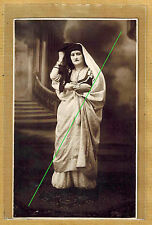 Carte Photo vintage card RPPC type femme juive ? arabe ? Maghreb Judaica ph0230