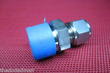 "SSP Grip® 1/2""Tube OD x 3/4""NPT Male Pipe 316 Stainless Steel Straight Connector"