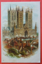 R TUCK & SONS Postcard c.1900-1904 LINCOLN MINSTER FROM THE CATLE TOWER LINCOLNS