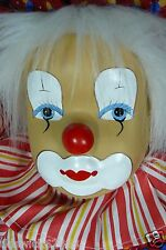 CLOWN PAIR Swinging Clowns Swings Porcelain Heads Cloth Bodies Wood Swings