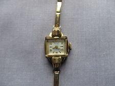 Vintage Davis De Luxe Women's Watch Hand-Winding 17 Jewels Working, Gold Plated