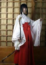 Fashion Anime Inuyasha Kikyo Kimono Cosplay Costume Custom Any Size